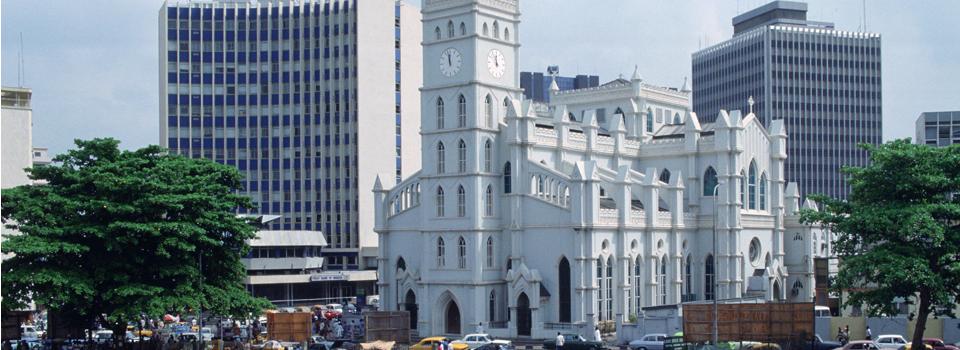 City scene Lagos Nigeria